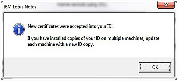 Почтовый клиент Лотус - цифровая подпись сообщения шаг 8